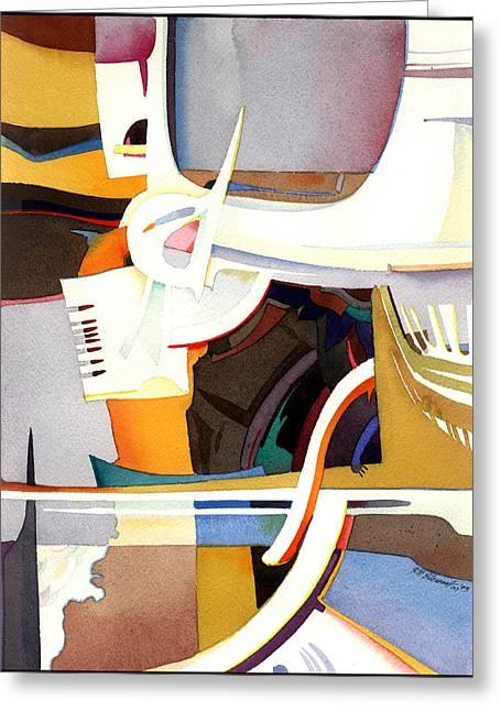John Stewart Greeting Cards - Mechanica Greeting Card by John Norman Stewart
