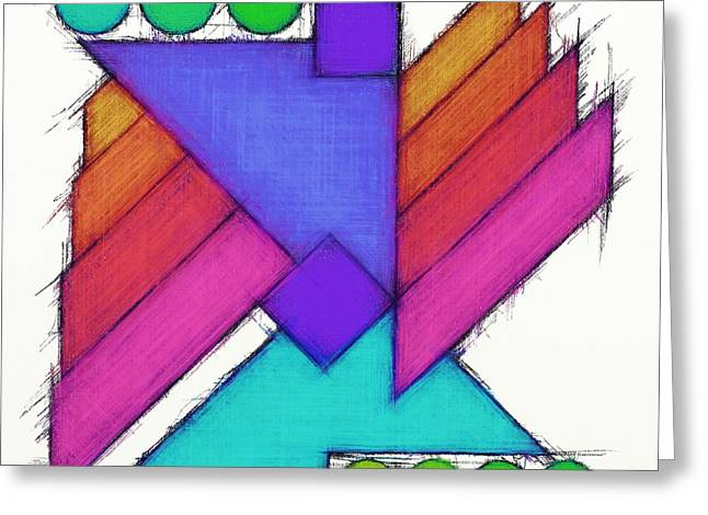 Geometrical Art Greeting Cards - Mechanical wings Greeting Card by Keith Mills