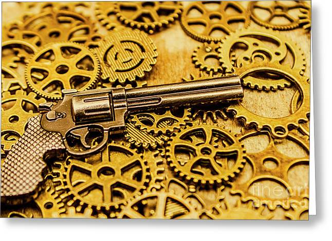 Mechanisms Of The Wild West  Greeting Card by Jorgo Photography - Wall Art Gallery