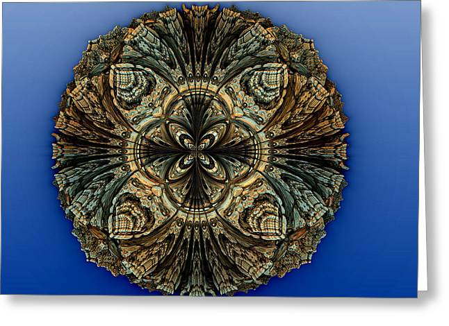 Fractal Orbs Greeting Cards - Medallion Greeting Card by Richard Ortolano