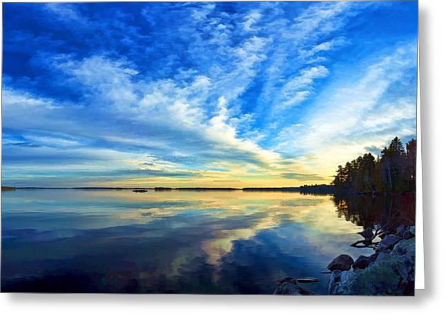 Downeast Greeting Cards - Meddybemps Reflections 4 Greeting Card by Bill Caldwell -        ABeautifulSky Photography