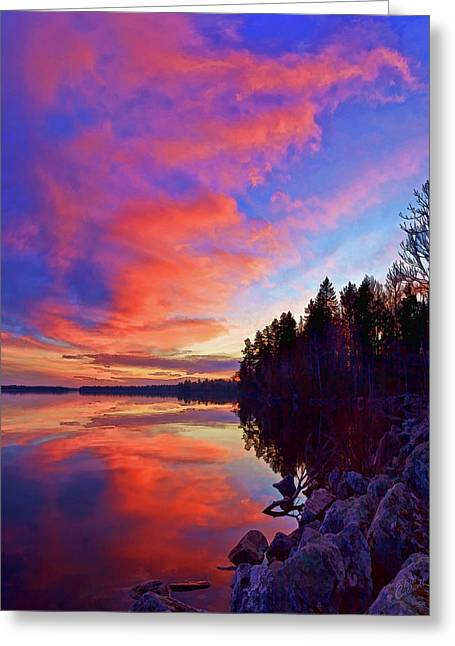 Meddybemps Reflections 9 Greeting Card by Bill Caldwell -        ABeautifulSky Photography