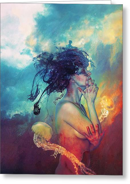 Feelings Greeting Cards - Medea Greeting Card by Mario Sanchez Nevado