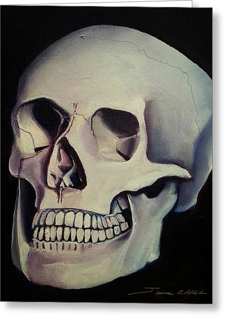 Medical Skull  Greeting Card by James Christopher Hill