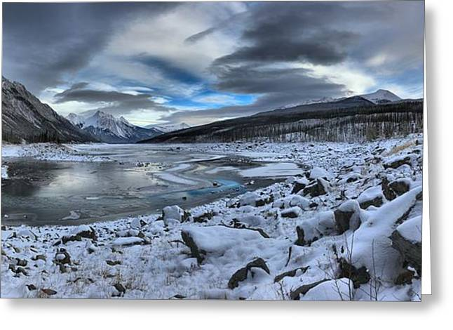 Medicine Lake Desolate Landscape Greeting Card by Adam Jewell