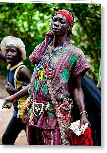 Africa Festival Greeting Cards - Medicine Man Greeting Card by Fotograffi