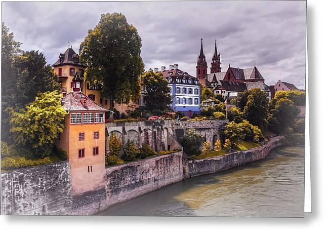Medieval Basel Switzerland  Greeting Card by Carol Japp