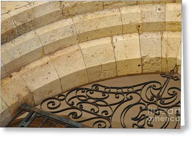 Medieval Temple Greeting Cards - Medieval cathedral portal in Algarve Greeting Card by Angelo DeVal