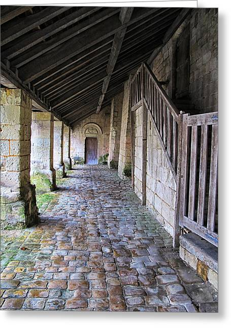 French Doors Greeting Cards - Medieval Church Entrance Greeting Card by Dave Mills
