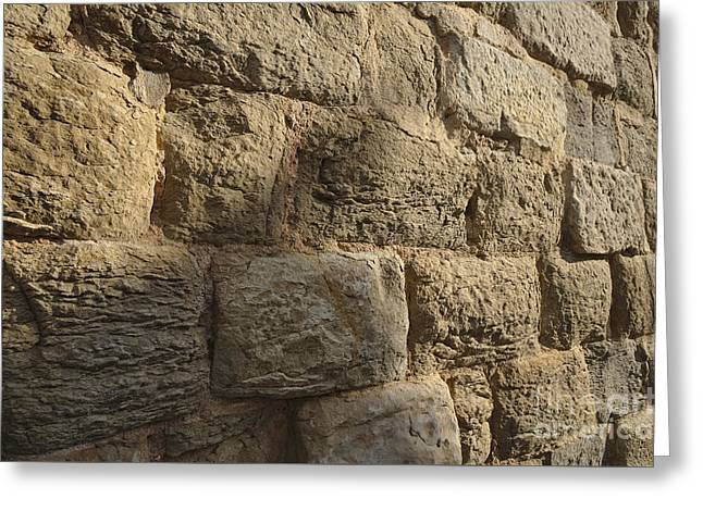 Old Street Greeting Cards - Medieval church wall Greeting Card by Angelo DeVal