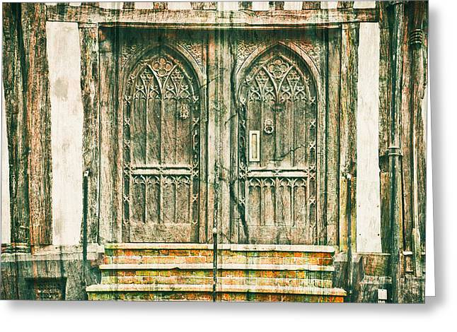 Stepping Stones Greeting Cards - Medieval doors Greeting Card by Tom Gowanlock