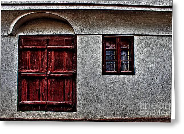 Provence Village Greeting Cards - Medieval House Windows  Belgrade Greeting Card by Milan Karadzic