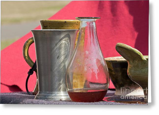 Medieval Still Life Greeting Card by Terri Waters