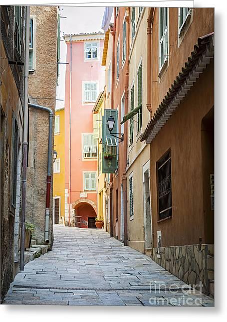 Medieval Street In Villefranche-sur-mer Greeting Card by Elena Elisseeva
