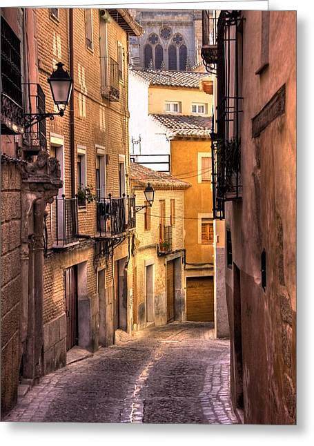 Old Street Greeting Cards - Medieval Street Greeting Card by Levin Rodriguez
