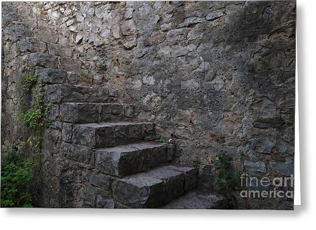 Medieval Wall Staircase Greeting Card by Angelo DeVal