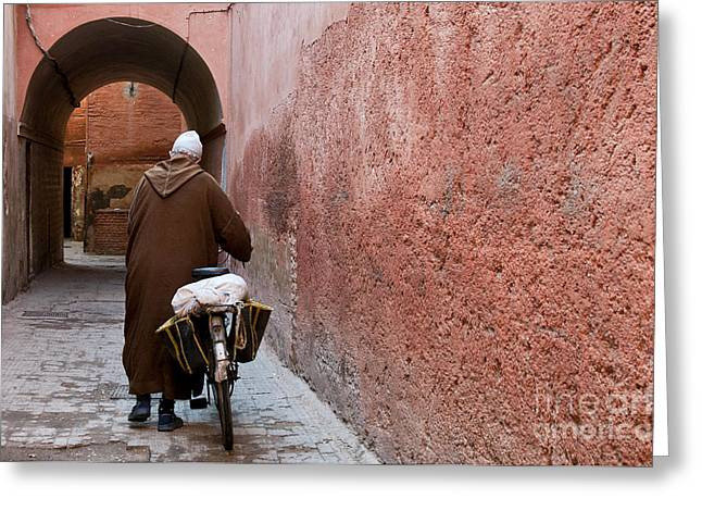 Townscape Greeting Cards - Medina man Greeting Card by Marion Galt