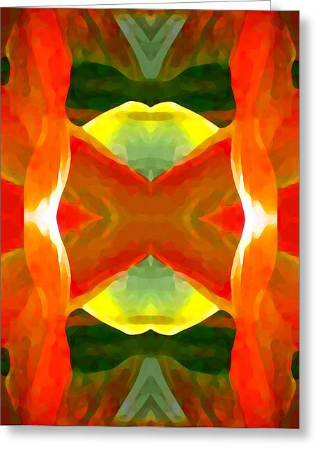 Meditation Greeting Card by Amy Vangsgard