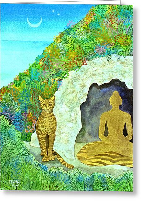 Spirtual Greeting Cards - Meditation at Dawn Greeting Card by Jennifer Baird