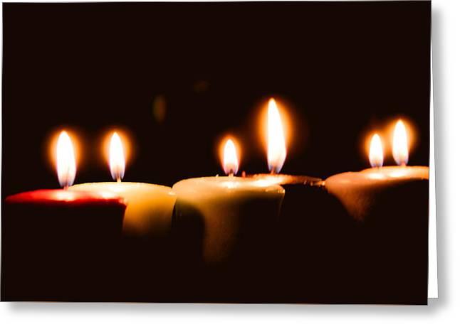 Candle Lit Greeting Cards - Meditation Greeting Card by Hyuntae Kim