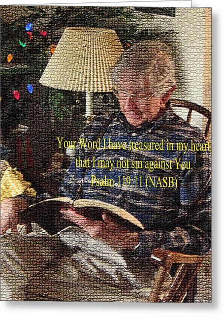 Bible Greeting Cards - Meditation Greeting Card by Lori Kingston
