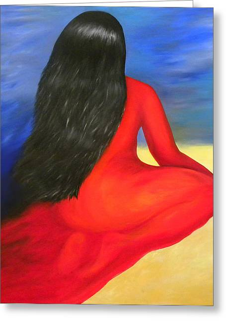 Philosophical Movement Greeting Cards - Meditation Moment Greeting Card by Fanny Diaz