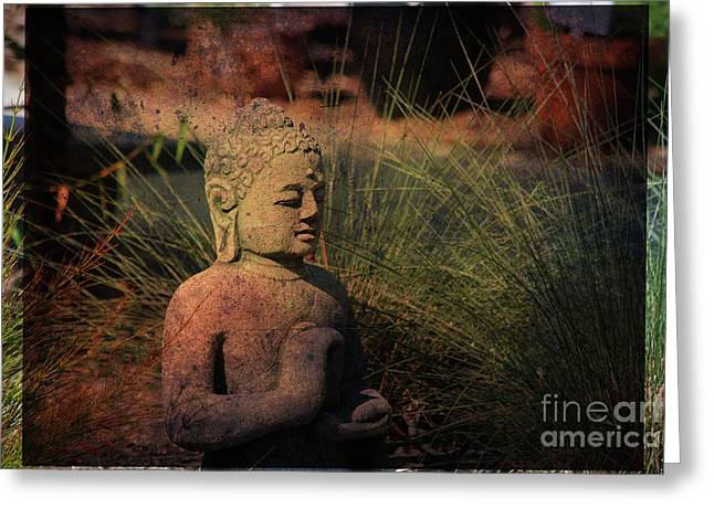 Meditation Greeting Card by Susanne Van Hulst