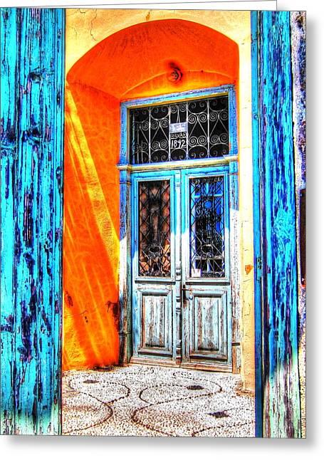 Entrance Door Greeting Cards - Mediterranean Door Delight Greeting Card by Andreas Thust
