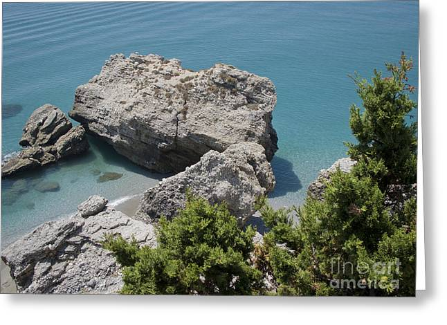 Shore Greeting Cards - Mediterranean Summer Greeting Card by Andy Smy