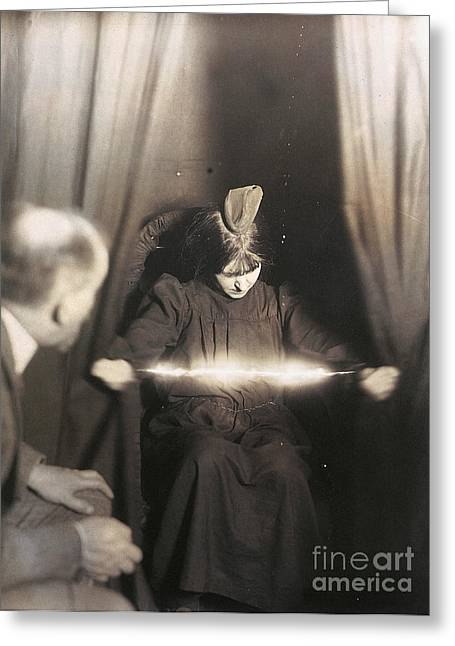 Seance Greeting Cards - Medium During Seance 1912 Greeting Card by Granger
