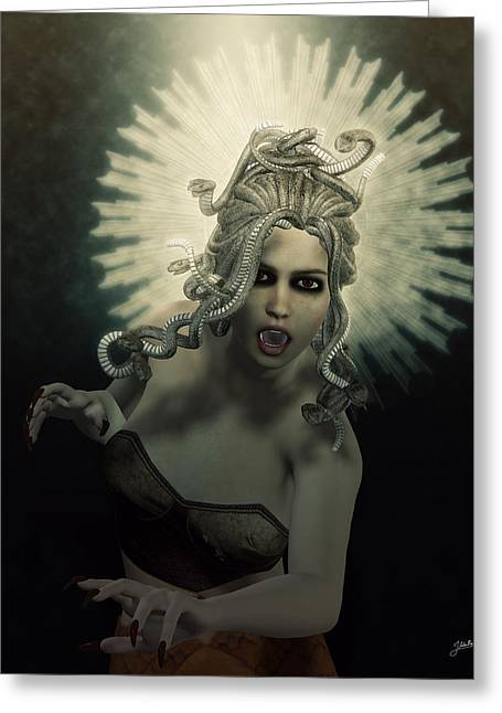 Medusa Greeting Card by Joaquin Abella