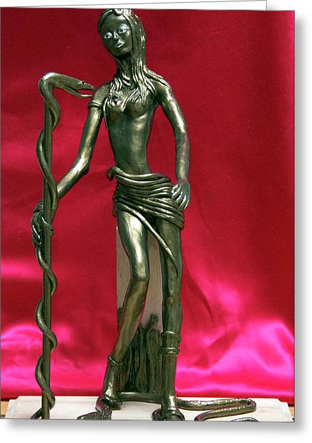 Pieces Sculptures Greeting Cards - Medusa Greeting Card by Yelena Rubin