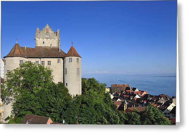 Deutschland Photographs Greeting Cards - Meersburg castle - Lake Constance or Bodensee - Germany Greeting Card by Matthias Hauser
