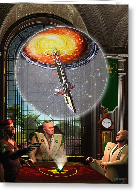 Meeting At The Papal Residence Greeting Card by Jim Coe