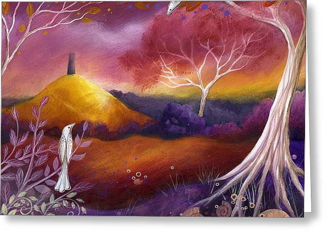 Mystical Landscape Greeting Cards - Meeting Place Greeting Card by Amanda Clark
