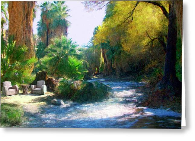 Stream Greeting Cards - Meeting Place Greeting Card by Snake Jagger