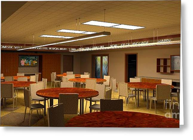 """""""meeting Room"""" Greeting Cards - Meeting Room Greeting Card by Ron Bissett"""