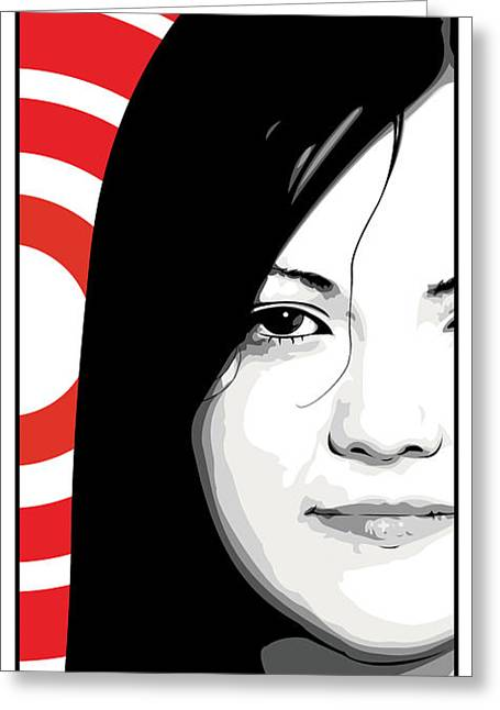 The White Stripes Greeting Cards - Meg White of The White Stripes Greeting Card by Jeff Nichol