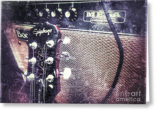 Mega Boogie And The Les Paul  Greeting Card by Steven  Digman
