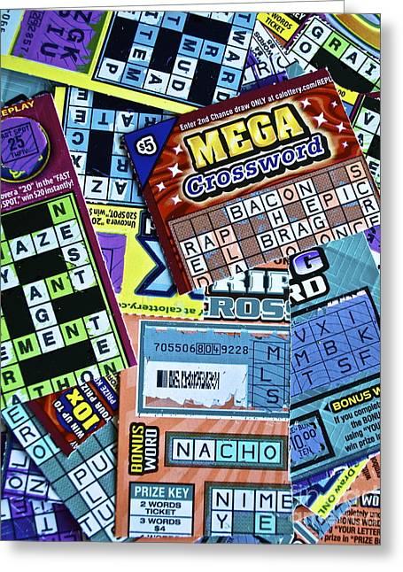 Mega Chance Greeting Card by Gwyn Newcombe
