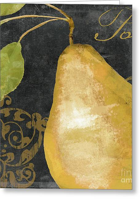 Melange French Yellow Pear Greeting Card by Mindy Sommers