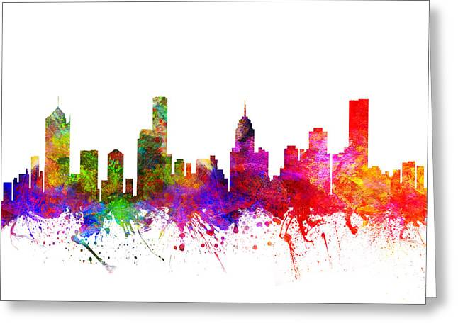 Melbourne Greeting Cards - Melbourne Australia Cityscape 02 Greeting Card by Aged Pixel