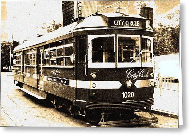 Melbourne Tram Greeting Card by Darren Stein