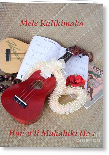 Mary Deal Greeting Cards - Mele Kalikimaka Hauoli Makahiki Hou Greeting Card by Mary Deal