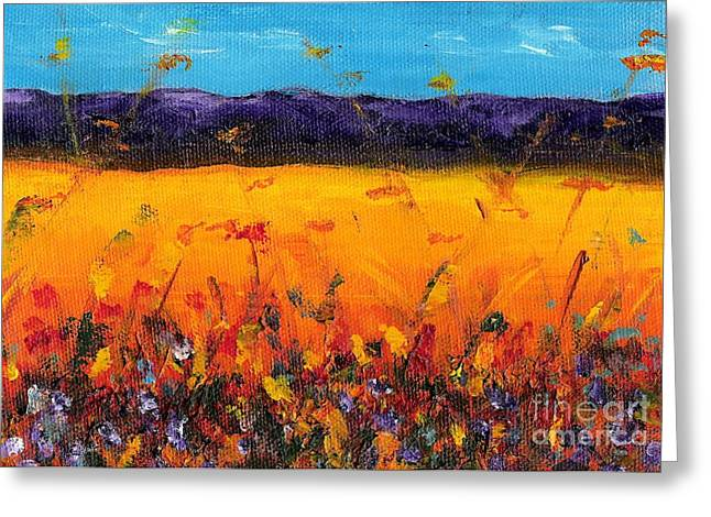 Melissa's Meadow Greeting Card by Frances Marino