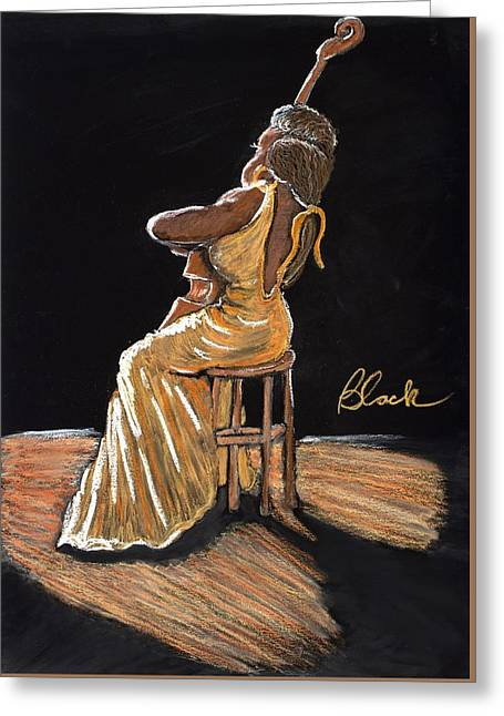 Chicago Pastels Greeting Cards - Mello as a Cello I Greeting Card by Charlie Black