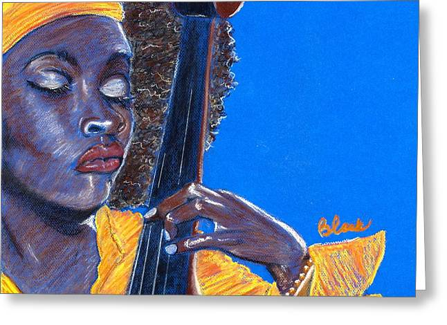 Chicago Pastels Greeting Cards - Mello as a Cello II Greeting Card by Charlie Black
