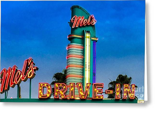 Mels Drive In Greeting Card by Gary Keesler
