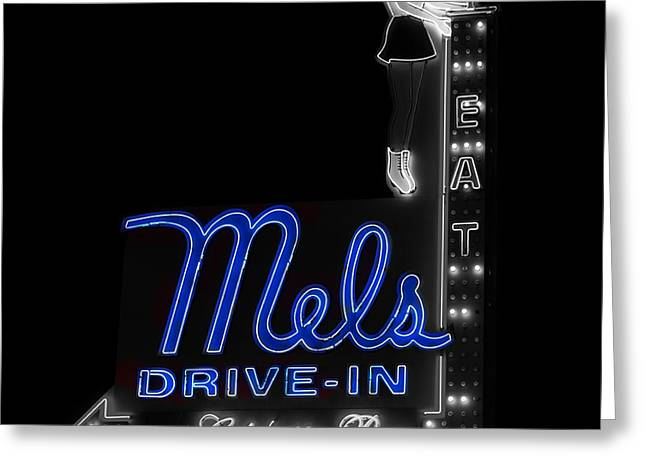 Mel's Drive-in - Hollywood California Greeting Card by Mountain Dreams