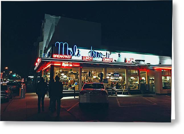 Mels Drive In Greeting Cards - Mels Drive-in - Hollywood California Greeting Card by Rob Bye